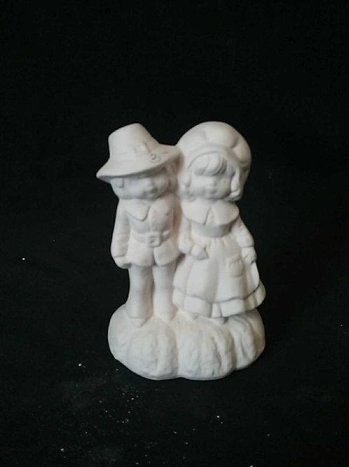 Cute pilgram couple