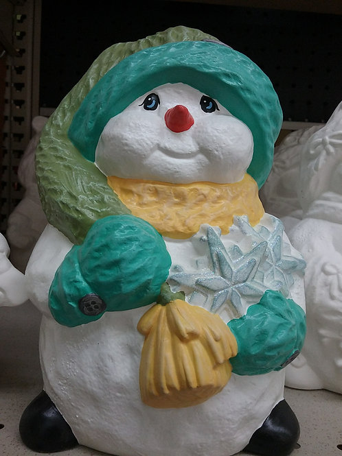 Snowman with stars in arm