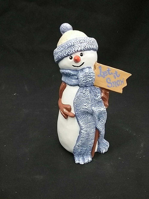 long scarf snowman