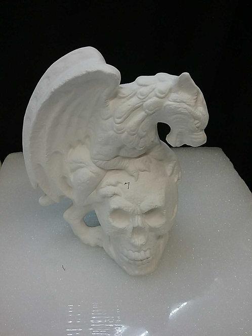 Gargoyle with skull