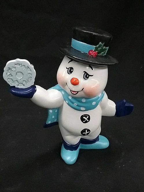 snowflake snowman standing