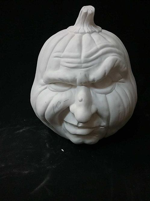 Snarling pumpkin face