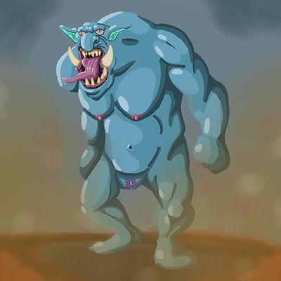 Nude female troll