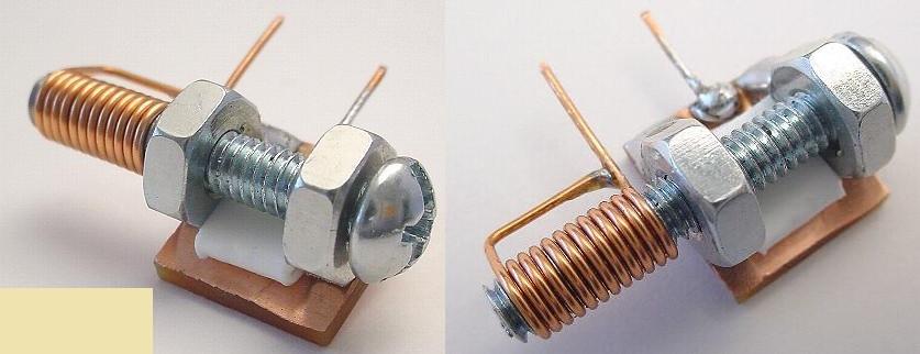 Capacitor variável caseiro