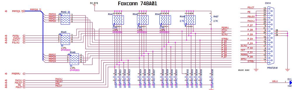 Esquema elétrico da placa-mãe Foxconn 748A01