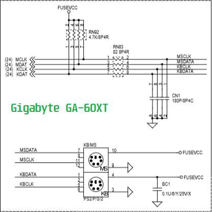 Circuito PS/2 - GBT GA 6OXT