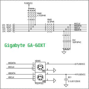 Esquema elétrico da placa-mãe GBT GA-60XT