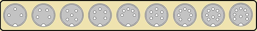 Principais conectores DIN