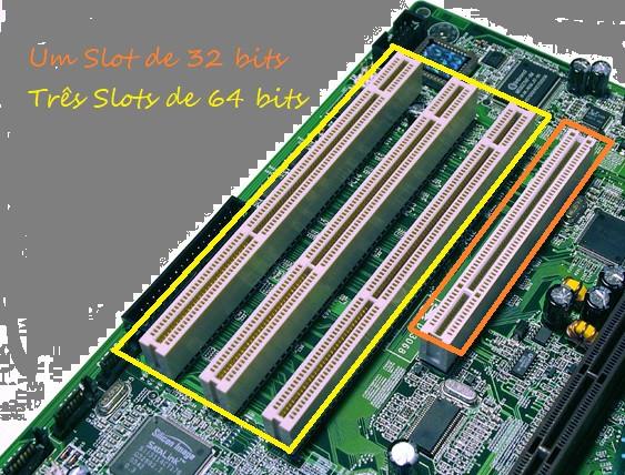 Slots PCI e PCI-X