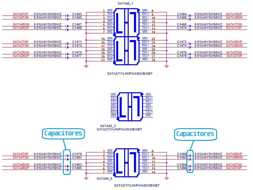 Esquema elétrico da GBT GA-M59SLI S4 Rev.: 1.01
