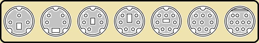 Principais conectores mini-DIN