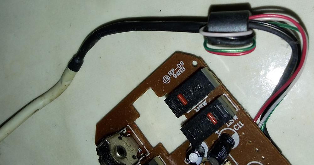 Isolante magnético num mouse