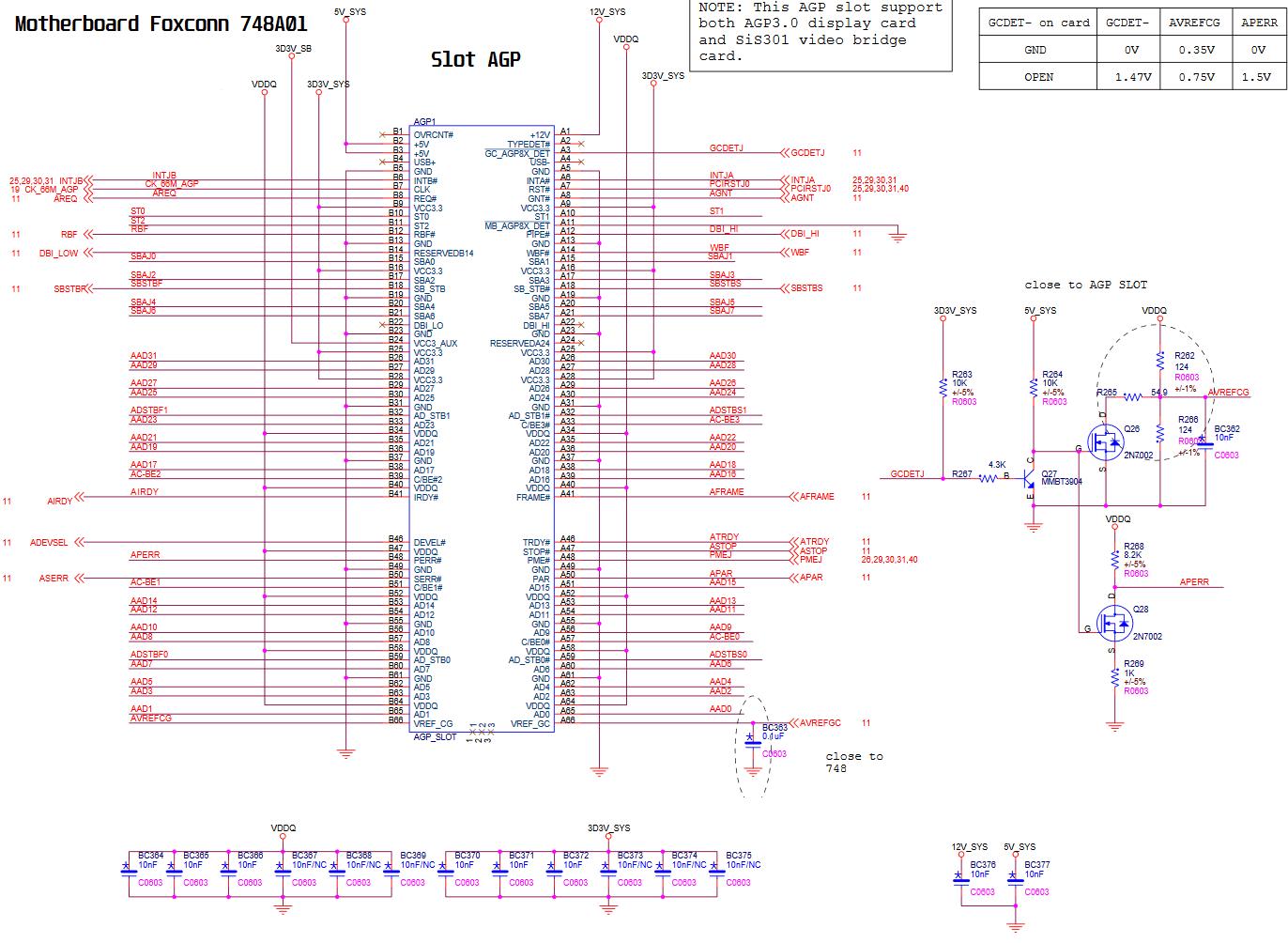 AGP slot - Foxconn 748A01