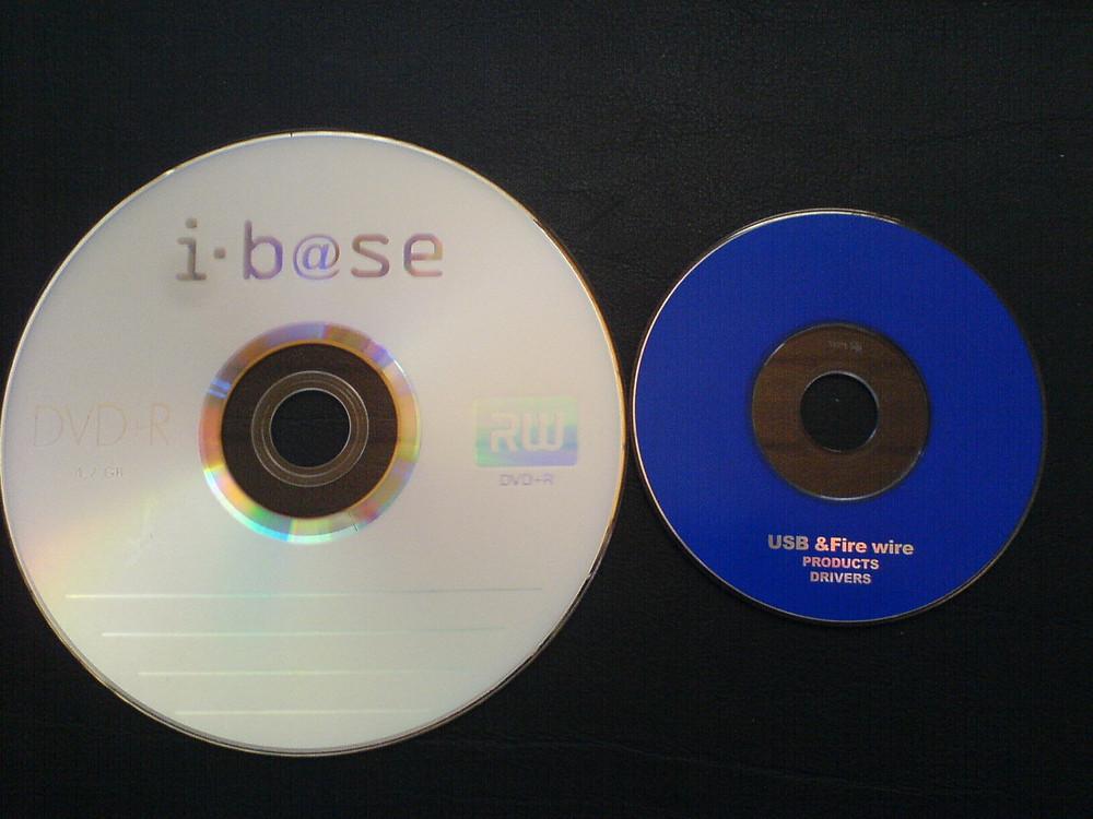 O CD de 12 cm e o de 8 cm