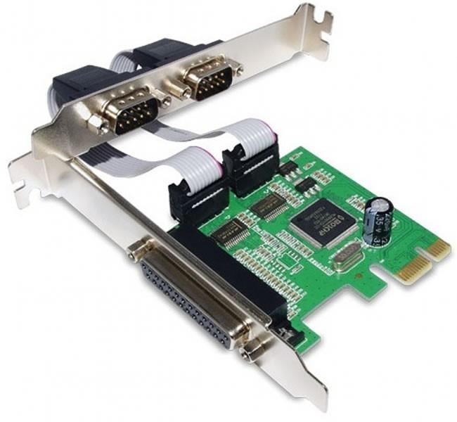 Porta paraela e seriais em adaptador PCI Express