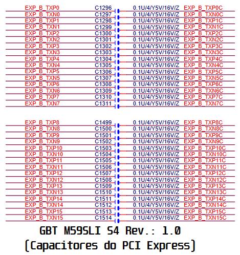 Capacitores PCIe - GBT GA M59SLI S4