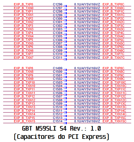 Esquema elétrico da GBT GA-M59SLI S4 Ver.: 1.00
