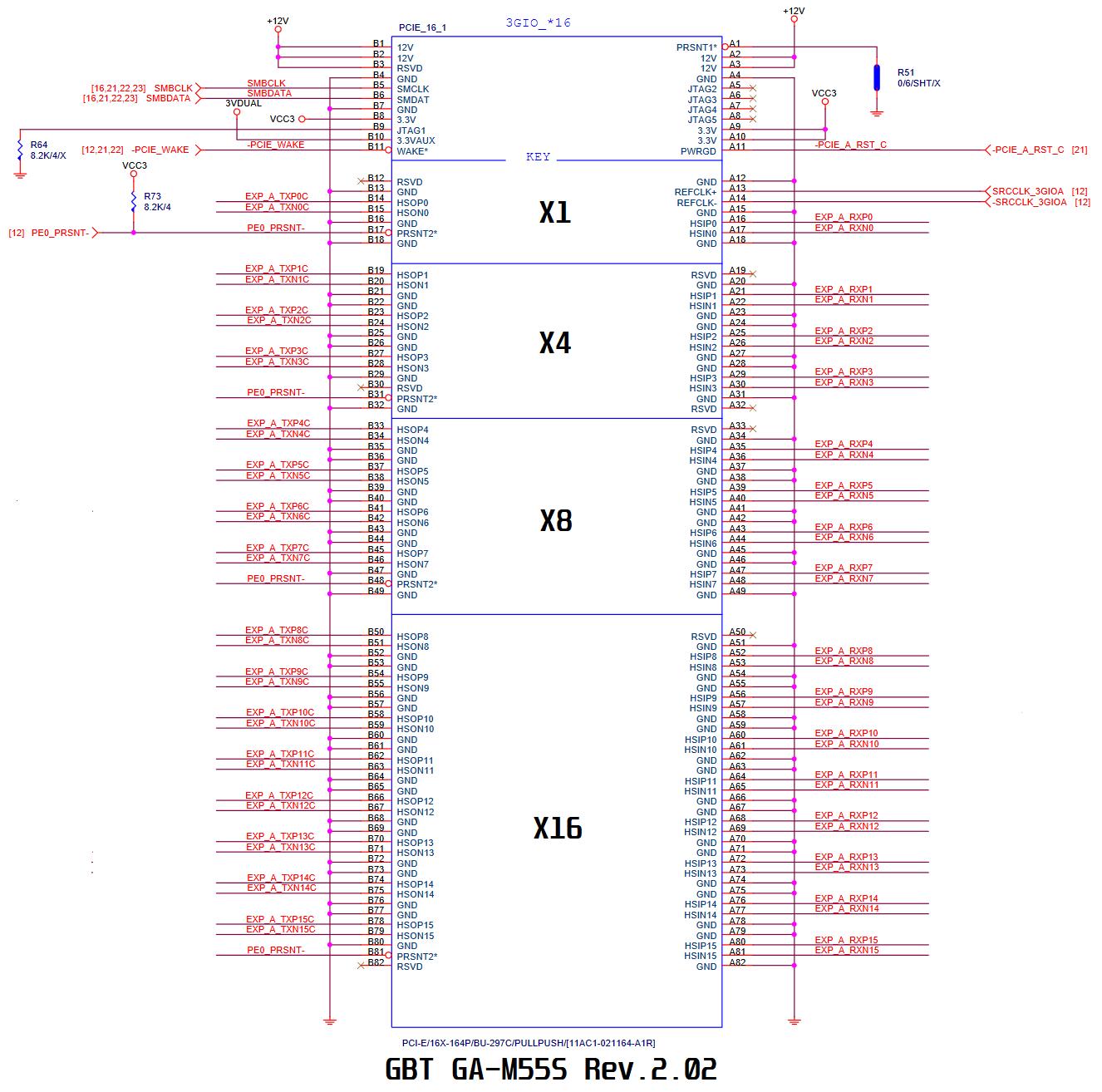 PCIe x16 - GBT GA-M55S S3