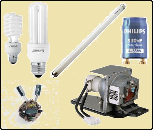 Óptica - Lâmpadas a descarga de alta pressão com vapor de Mercúrio ou Vapor de Sódio
