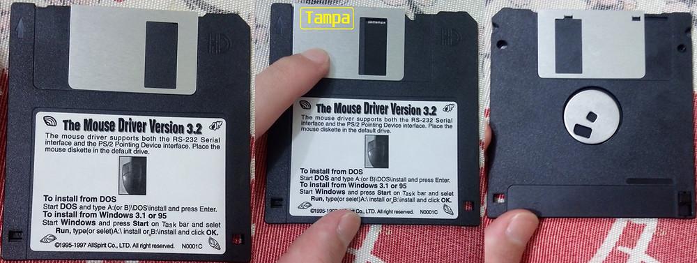 Como é um disquete