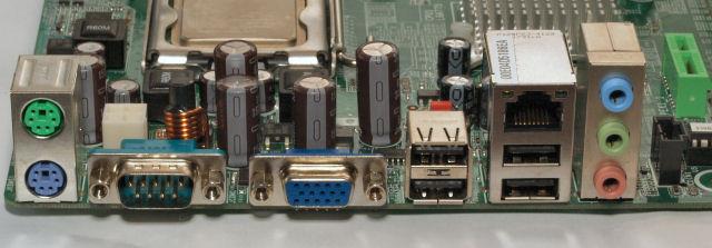 Painel traseiro da Biostar GF7050V