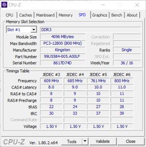 "CPU-Z na aba ""SPD"""