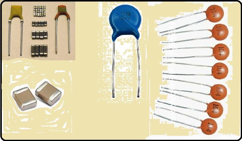 Os vários modelos de capacitores de cerâmica