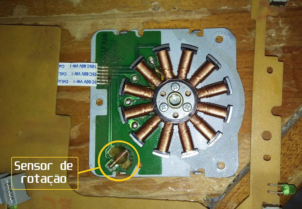 Motor DC Brushless desmontado