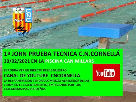 1ª JORNADA PROVA TÈCNICA C.N.CORNELLÁ / LLISTATS DE SORTIDA