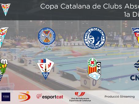 NATACIÓ-Torna la competició de natació amb la COPA CATALANA ABSOLUTA, 1ª, 2ª I 3ª divisió.