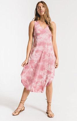 Z Supply - Cloud Tie-Dye dress - Zephyr Pink