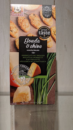 Buiteman Gouda & Chive Crunchy Biscuits