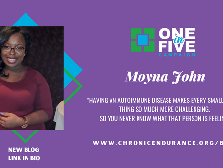 One in Five Campaign: Moyna John