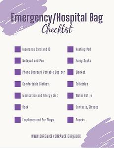 Emergency/Hospital Bag Checklist