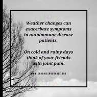 Weather changes can exacerbate symptoms