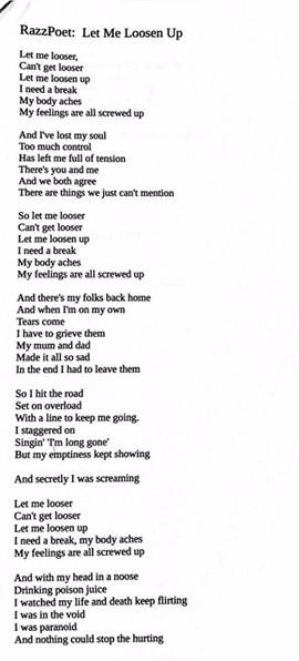 Let Me Loosen Up - part 1
