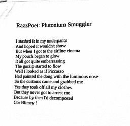 Plutonium Smuggler