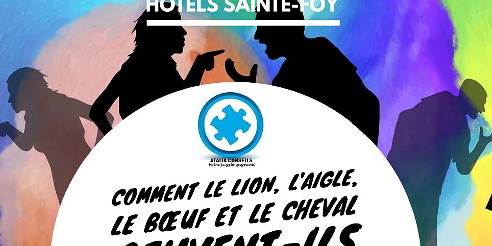 COMMENT LE LION, L'AIGLE, LE BOEUF ET LE CHEVAL PEUVENT-ILS BÂTIR UNE ENTREPRISE ENSEMBLE?