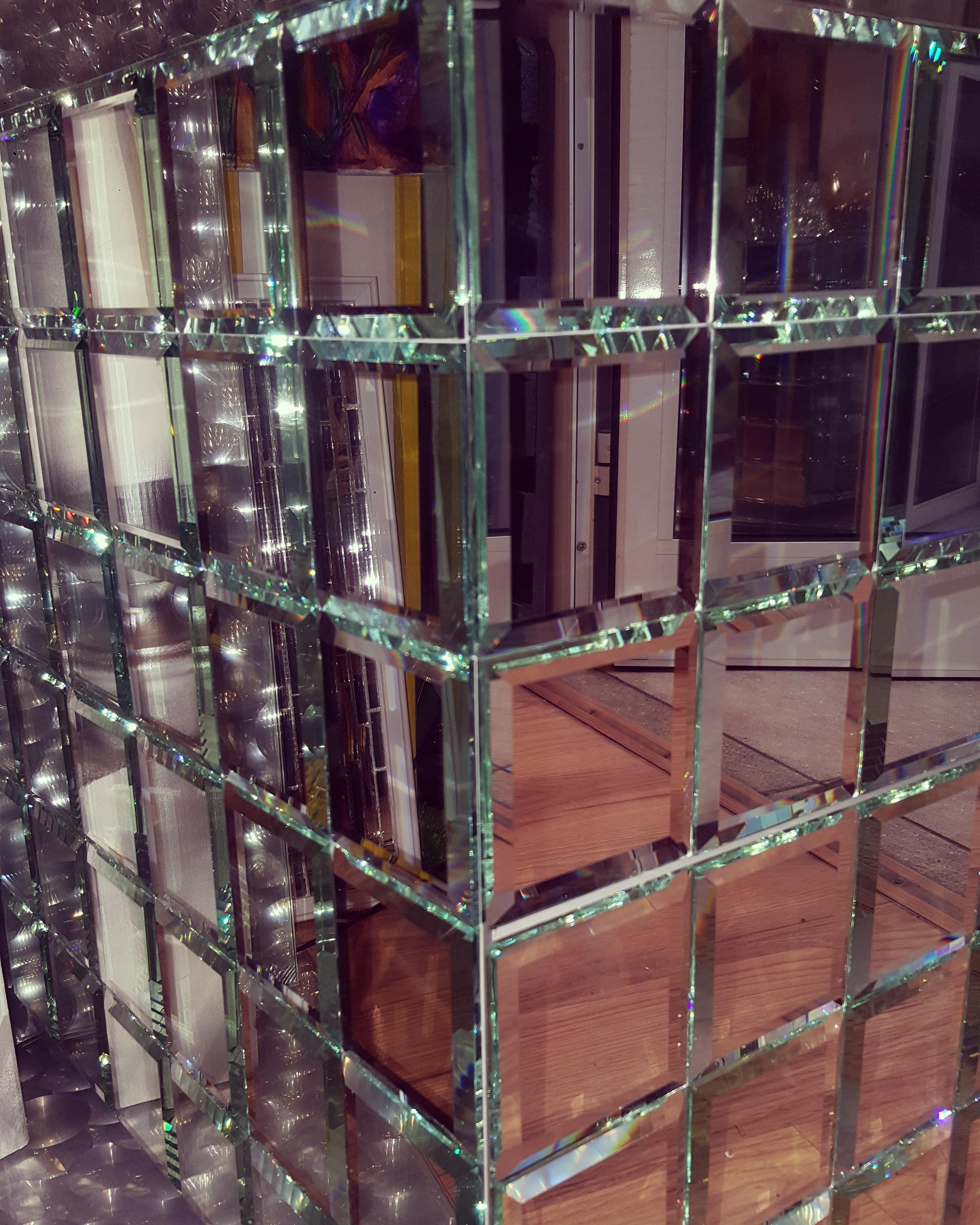 Зеркальный куб с фацетом 5мм