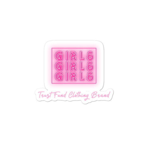Girls Girls Girls Bubble-free stickers
