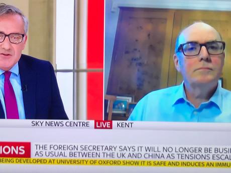 Live on Sky News - 20th July