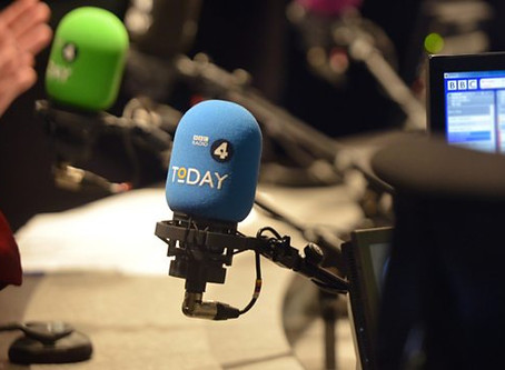 Interview re China on RADIO 4 Today Programme - 20th July