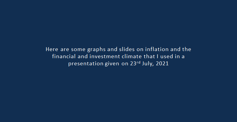 A slide show on the inflation and investment climate...