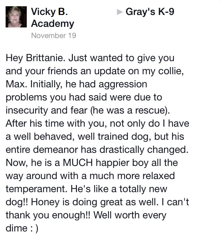 Dog training in Macon GA