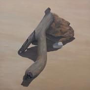Tronco, 2019 óleo sobre tela  150 x 150 cm