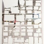 Comprove  da série 'Fragmentos de um discurso cotidiano', 2017. Página de jornal vazada 54 x 32 cm