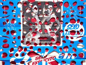 Série Peles Sexo em Abundância 2021 66 x 95 cm Cartazes originais de filmes pornográficos anos 70 e 80 e madeira Único