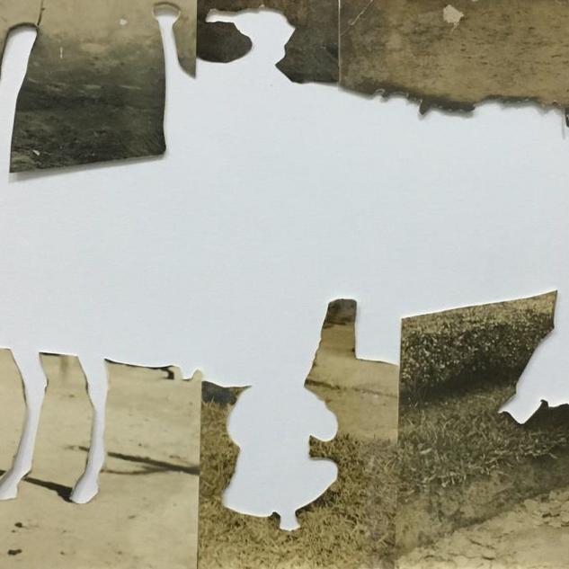 Êxodo no 4, 2018 colagem de fragmentos fotográficos 24 x 41cm