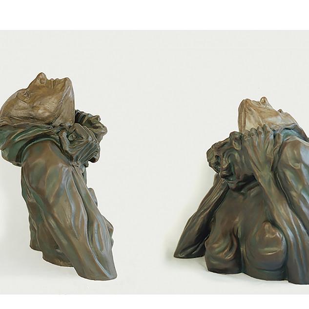 Renascimento - 1995 Resina policromada 53 x 45 x 36 cm