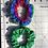 Thumbnail: Green & Rainbow Scrunchie set